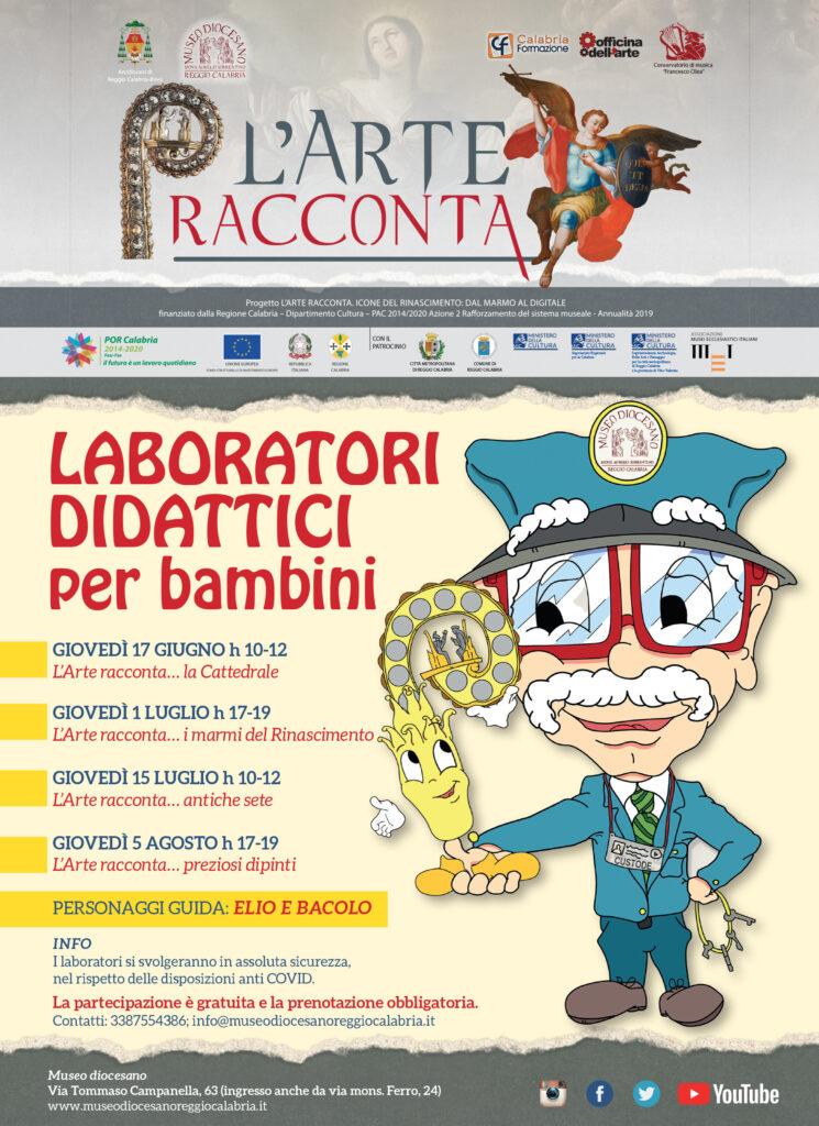 locandina l'arte racconta laboratori didattici per bambini
